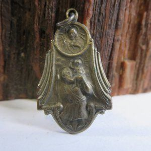 Antique Sterling St. Christopher Medal Pendant